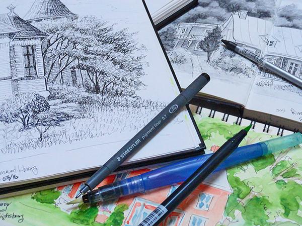 Outdoor Landscape Sketching