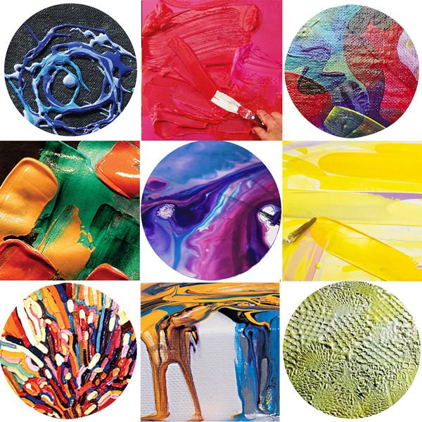 Creative Textures with Acrylic Mediums